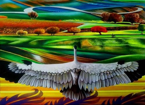 Obraz do salonu artysty Anna Malinowska pod tytułem Żuławy