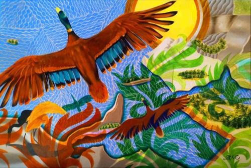 Obraz do salonu artysty Anna Malinowska pod tytułem Słoneczna zatoka