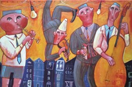 Obraz do salonu artysty Jacek Frąckiewicz pod tytułem Bum cyk, cyk