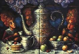 Obraz do salonu artysty Edward Gałustow pod tytułem Wielkie picie herbaty
