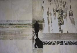 Obraz do salonu artysty Janusz Osicki pod tytułem Przechodnie IV
