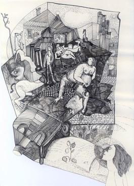 Obraz do salonu artysty Ewa Kuryluk pod tytułem Widzę