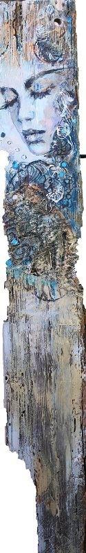 Obraz do salonu artysty SYLWIA KALINOWSKA pod tytułem Anielica na desce