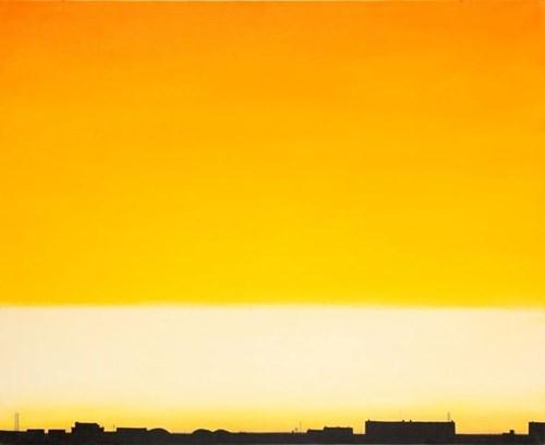 Obraz do salonu artysty MAGDALENA LASKOWSKA pod tytułem Pomarańczowe niebo