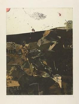 Obraz do salonu artysty STANISŁAW WEJMAN pod tytułem Sen o skalistej plaży i rybie