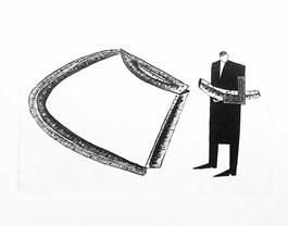 Obraz do salonu artysty Jerzy DMITRUK pod tytułem Zapasowa piękna chwila, która jeszcze przed nami, w kruchej pętli czasu 'z cyklu Siewca urodzaju'