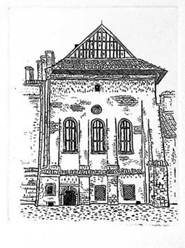 Obraz do salonu artysty Aleksander DMITRUK pod tytułem Kościół na rozdrożu - kościół Św. Marka