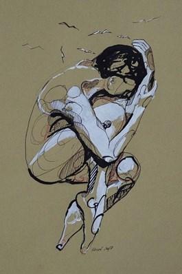 Obraz do salonu artysty Katarzyna Sołtys pod tytułem Niepokój