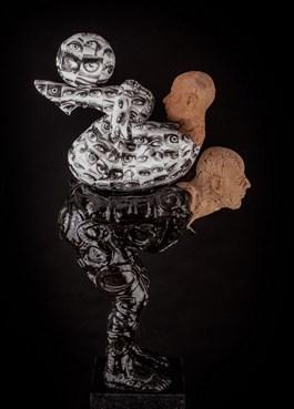 Rzeźba do salonu artysty Marek Zyga pod tytułem Para