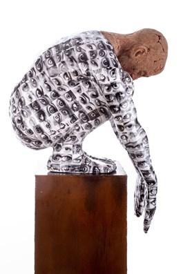 Rzeźba do salonu artysty Marek Zyga pod tytułem Skoczek
