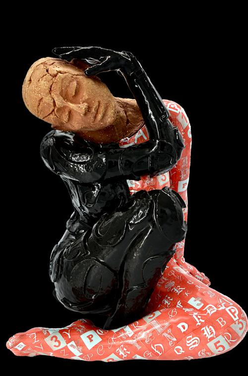 Rzeźba do salonu artysty Marek Zyga pod tytułem Nie jesteś sama II
