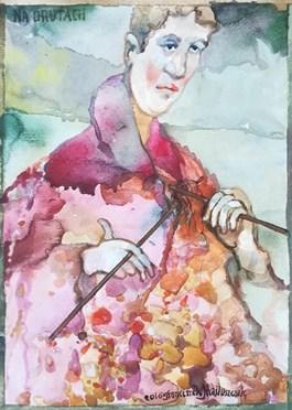 Obraz do salonu artysty Franciszek MAŚLUSZCZAK pod tytułem Na drutach
