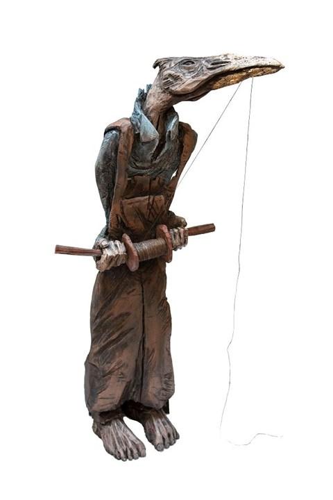Rzeźba do salonu artysty Marcin Myśliwiec pod tytułem Nielot Tkacz