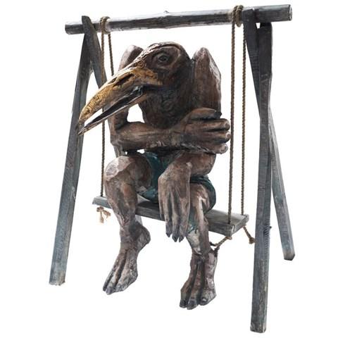 Rzeźba do salonu artysty Marcin Myśliwiec pod tytułem Huśtawkowiec II