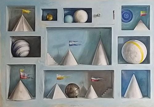 Obraz do salonu artysty Zbigniew Olszewski pod tytułem Uni-kolekcja