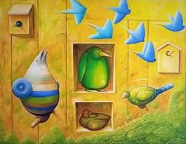 Obraz do salonu artysty Zbigniew Olszewski pod tytułem Powitanie wiosny