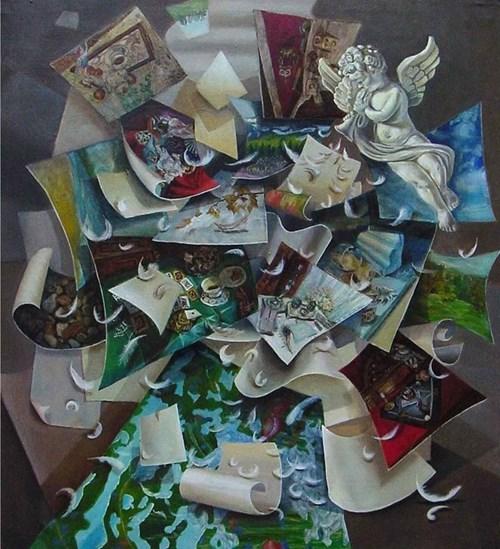Obraz do salonu artysty Maria Kucia-Albin pod tytułem Natchnienie