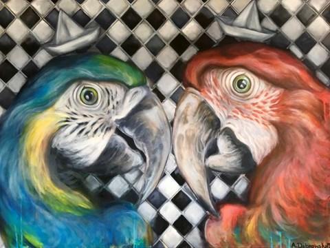 Obraz do salonu artysty Anita Dąbrowska pod tytułem Just friends