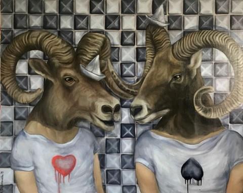 Obraz do salonu artysty Anita Dąbrowska pod tytułem Small Talk