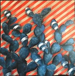 Obraz do salonu artysty Anita Dąbrowska pod tytułem Behind Red Line