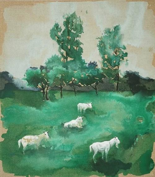 Obraz do salonu artysty Joanna Półkośnik pod tytułem Kozy