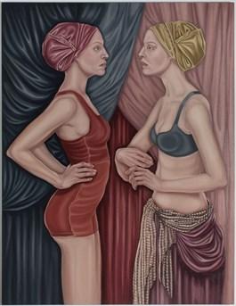 Obraz do salonu artysty Dorota Kuźnik pod tytułem Annunciation z cyklu Współczesne Madonny