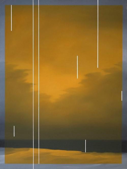 Obraz do salonu artysty Łukasz Patelczyk pod tytułem Yellow glass