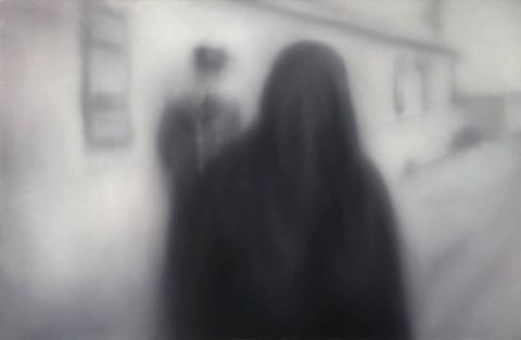 Obraz do salonu artysty Bartek Otocki pod tytułem Bez tytułu z cyklu Nieodwracalne