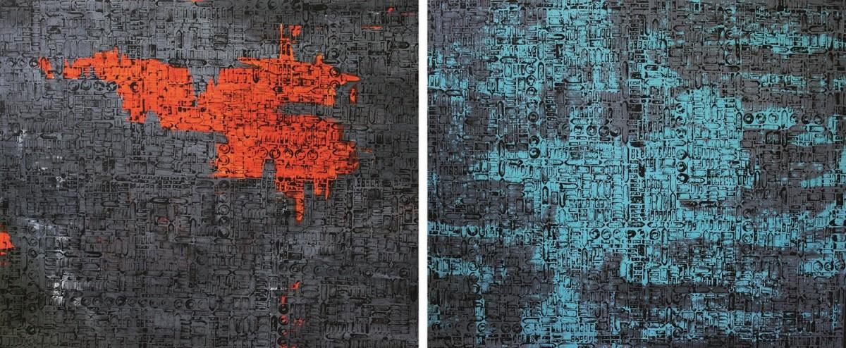 Miasto 3002 i 3005 (dyptyk)