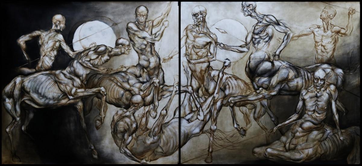 Walka centaurów (dyptyk)