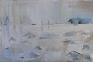 Obraz do salonu artysty Malwina  Cieślik pod tytułem Kamień i woda