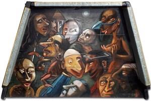 Obraz do salonu artysty Janusz Wieczorek pod tytułem VIA DOLOROSA (droga krzyżowa człowieka)