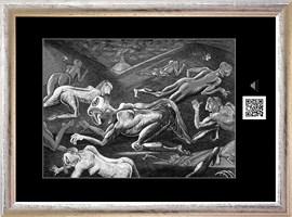 Obraz do salonu artysty Janusz Wieczorek pod tytułem Droga w kształcie kwadratu z rogami do wewnątrz