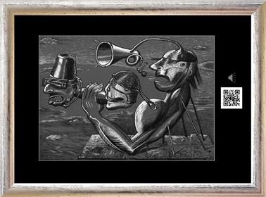 Obraz do salonu artysty Janusz Wieczorek pod tytułem Dekapitacja pierwiosnków