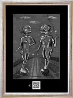 Obraz do salonu artysty Janusz Wieczorek pod tytułem ZARĘCZYNY W OBŁOKACH