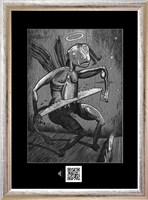 Obraz do salonu artysty Janusz Wieczorek pod tytułem DWA KOLORY BIAŁY I CZARNY