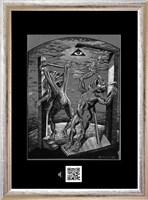 Obraz do salonu artysty Janusz Wieczorek pod tytułem NIEWINNOŚĆ W SREBRZYSTYM ŚWIETLE LILII