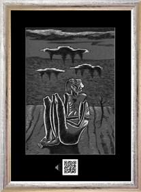 Obraz do salonu artysty Janusz Wieczorek pod tytułem SAMOTNOŚĆ W ŚWIETLE KSIĘŻYCA