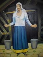 Obraz do salonu artysty Antoni Zaborowski pod tytułem Postać Kobieta w stroju kaszubskim