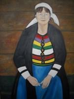 Living room painting by Antoni Zaborowski titled  Mrs. Mariola
