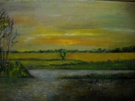 Living room painting by Antoni Zaborowski titled Landscape