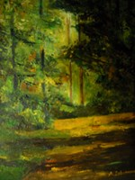 Living room painting by Antoni Zaborowski titled  Forest Road