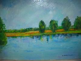 Obraz do salonu artysty Antoni Zaborowski pod tytułem Brzeg Jeziora