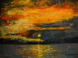 Living room painting by Antoni Zaborowski titled Sun set