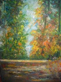 Obraz do salonu artysty Antoni Zaborowski pod tytułem Las Jesienią III