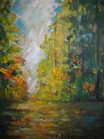 Obraz do salonu artysty Antoni Zaborowski pod tytułem Las Jesienią 4