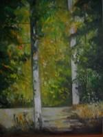 Obraz do salonu artysty Antoni Zaborowski pod tytułem Droga Leśna 3