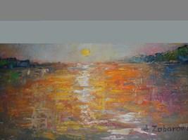 Obraz do salonu artysty Antoni Zaborowski pod tytułem Pejzaż z jeziorem II