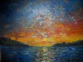Living room painting by Antoni Zaborowski titled  Sunset
