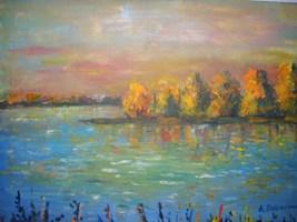 Living room painting by Antoni Zaborowski titled  Autumn landscape V